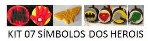 Cortador 3D Super Heróis Símbolo 5 cm (Batman, Super Homem, Mulher Maravilha, Homem Aranha, Mão do Hulk, Mão do Homem