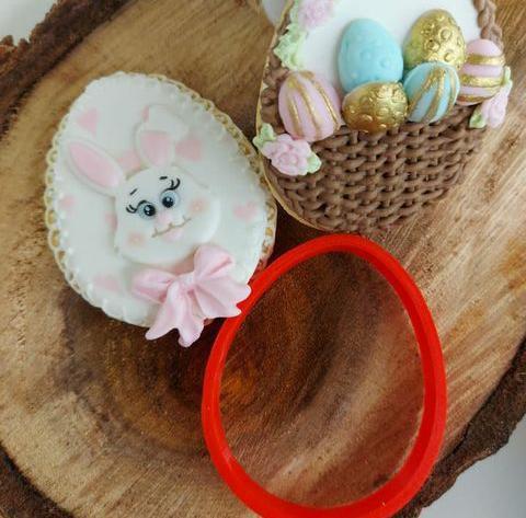 Cortador 3D Silhueta ovo de páscoa