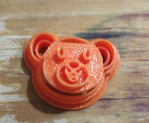 Cortador 3D Rosto Urso 2 cm