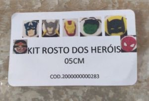 Cortador  Rosto Super Heróis 5 cm (Batman, Super Homem, Mulher Maravilha, Homem Aranha, Mão do Hulk, Mão do Homem