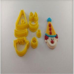 Cortador 3D Rosto de Palhaço 5,5 cm