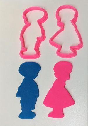 Cortador 3D Menina / Menino  (3 cm) Chá revelação