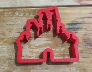 Cortador 3D Castelo das Princesas 5,0 cm