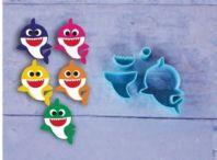 Cortador 3D Baby Shark em Pé 3cm