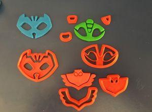 Cortador 3D  Kit Simbolos Pj Masks 5 cm