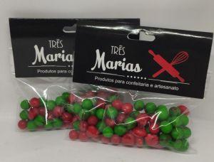 Confeitos/ Sprinkles Coloridos Vermelho e Verde
