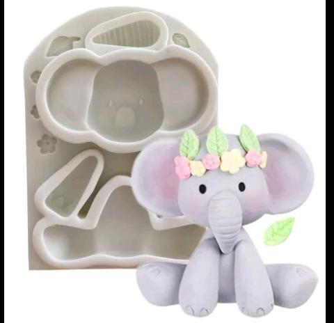 Molde de Silicone Elefante / circo / safari