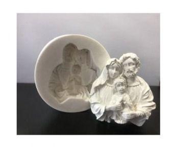 Molde de silicone da Sagrada Família, Batizado, Religião G