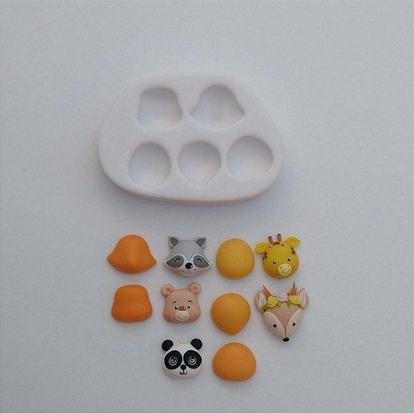 Molde Bosque Raposa / Girafa / Panda / Guaxinim / Urso