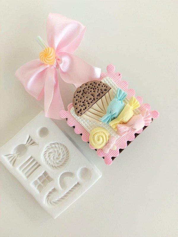 Molde de silicone Doces balas / pirulito / chocolate