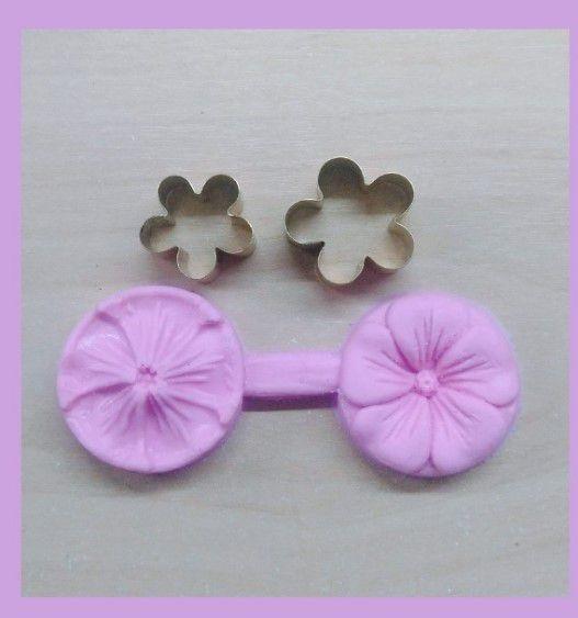 Mini kit frisador e cortador flor da petúnia