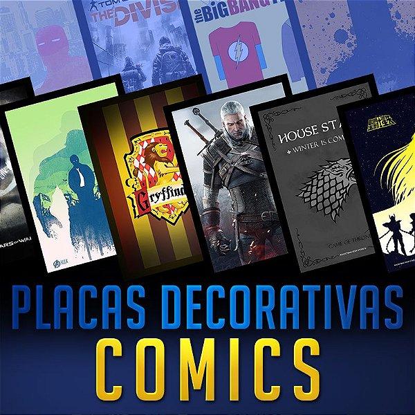 PLACAS DECORATIVAS - COMICS