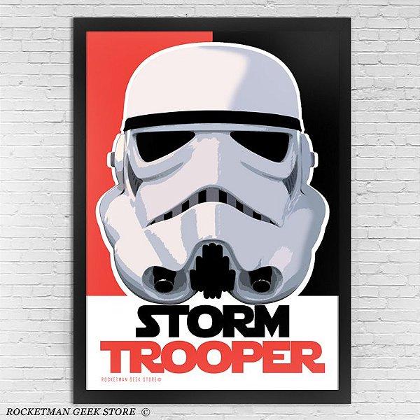 POSTER COM MOLDURA STORMTROOPER STAR WARS