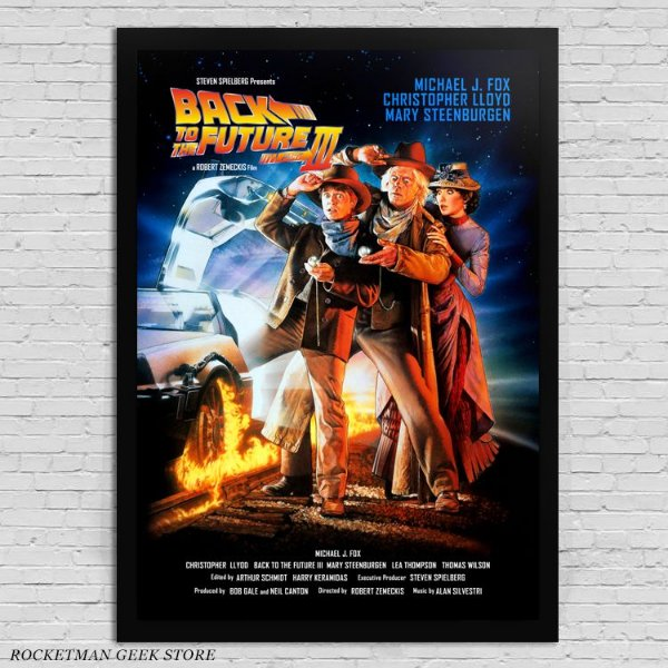 POSTER COM MOLDURA BACK TO THE FUTURE 3