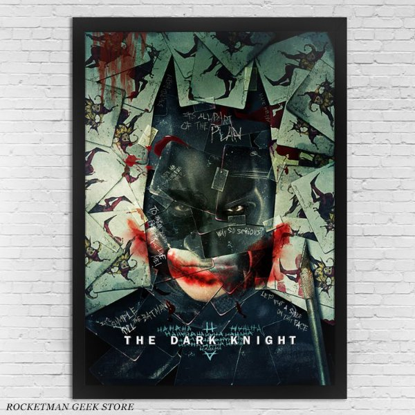 POSTER COM MOLDURA BATMAN THE DARK KNIGHT CARTAS