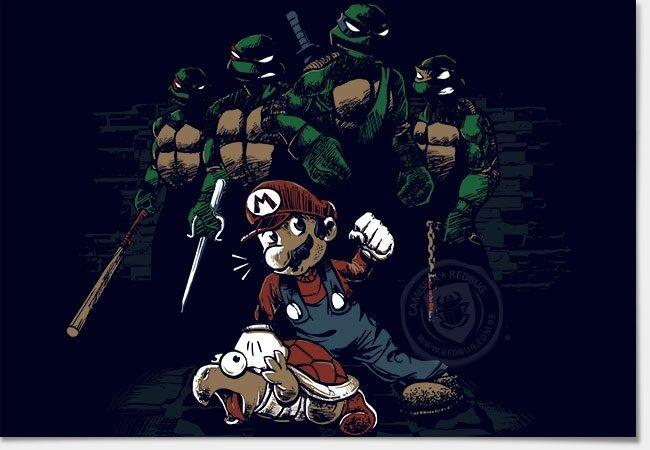 Camisa Mario x Tartarugas