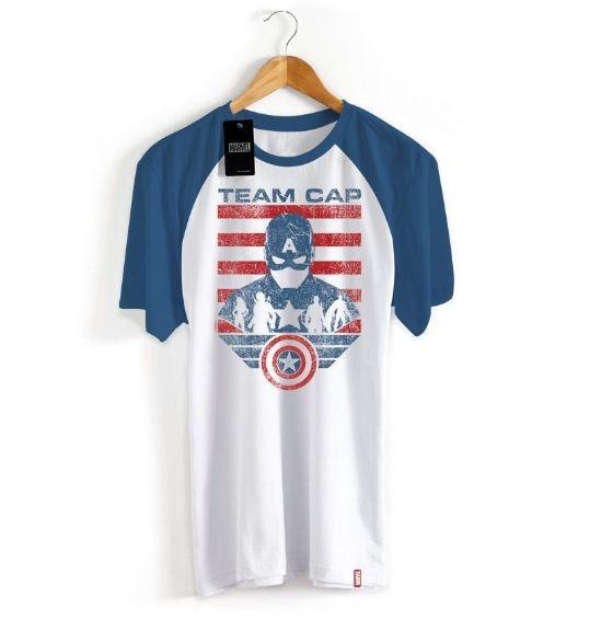 Camiseta Marvel Guerra Civil Time Capitão América