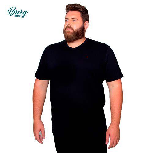 Camiseta Gola V Manga Curta Plus Size