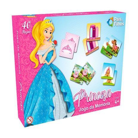Jogo da Memória Princesa 40 peças - Pais&Filhos