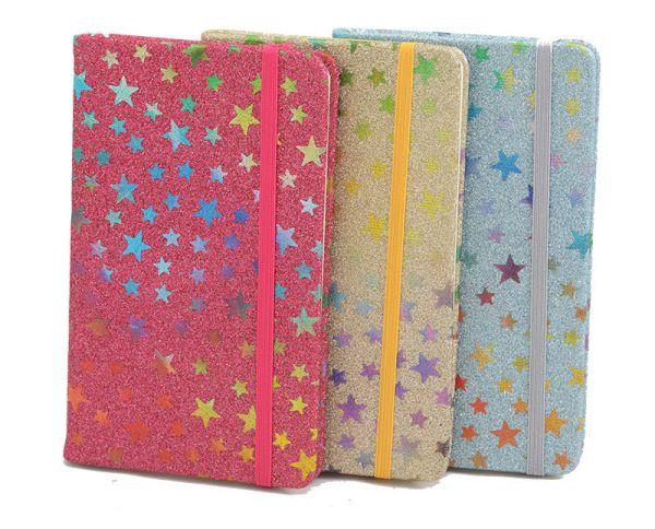 Caderno de Anotações Capa Dura Gliter