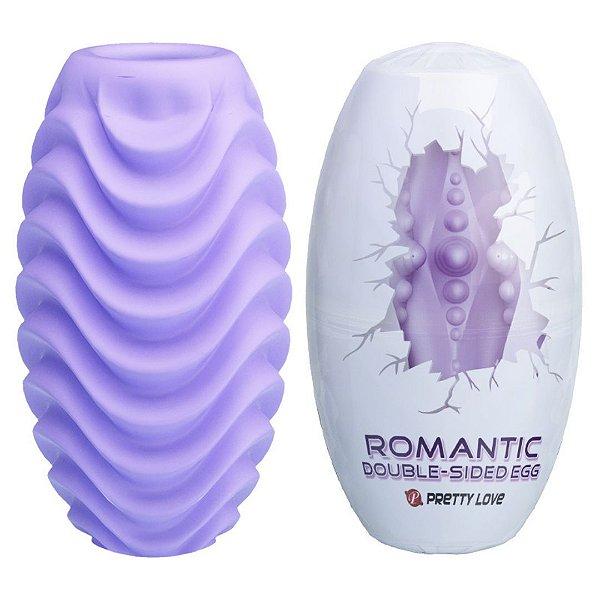 ROMANTIC DOUBLE SIDE EGG MASTURBADOR MASCULINO COM TEXTURAS - PRETTY LOVE