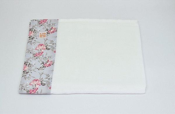 Toalha Fralda - Cinza floral
