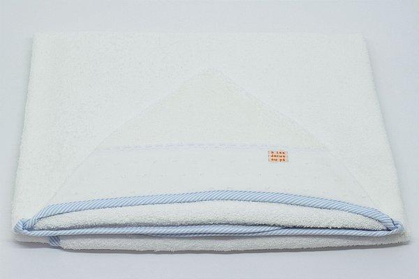 Toalha Capuz - Azul listra