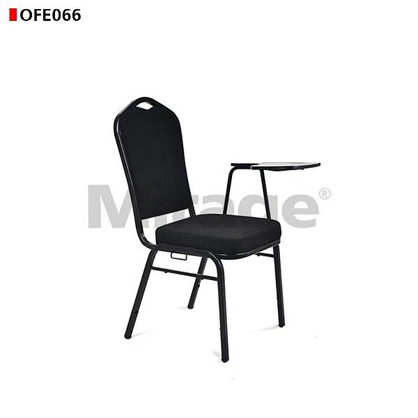 Cadeira Fixa Celebrate Preta com Prancheta