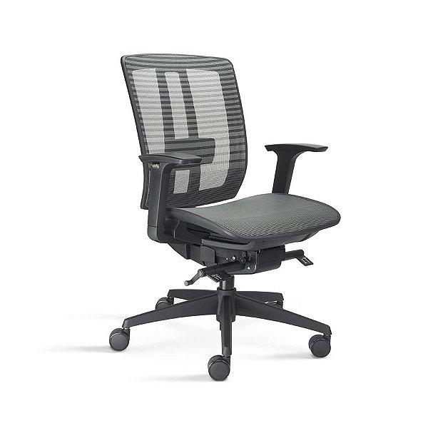 Cadeira Escritório Giratória Vector Diretor Preta