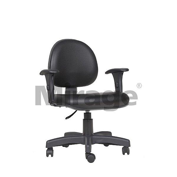 Cadeira Escritório Giratória Secretária Preta