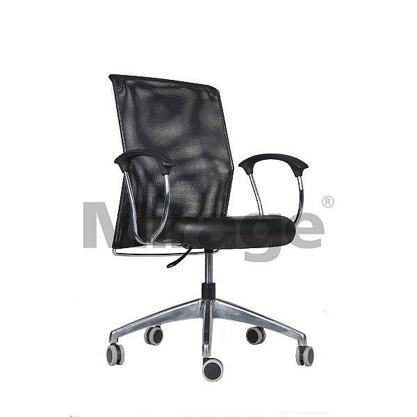 Cadeira Escritório Giratória Diretor Alumínio