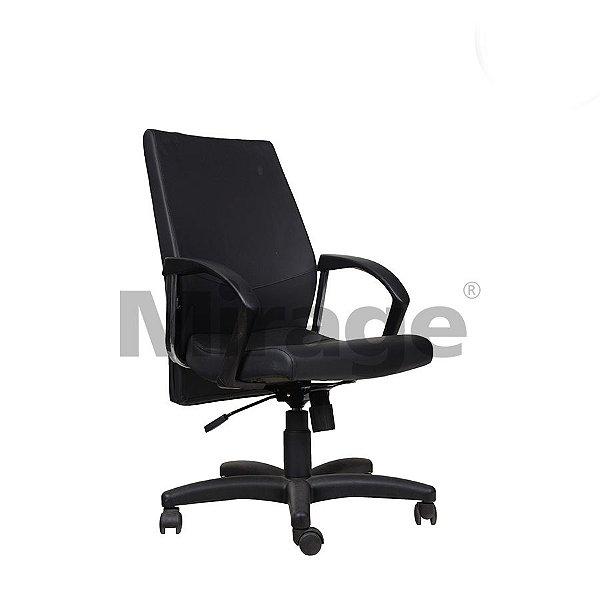 Cadeira Escritório Giratória Slim Diretor Preta