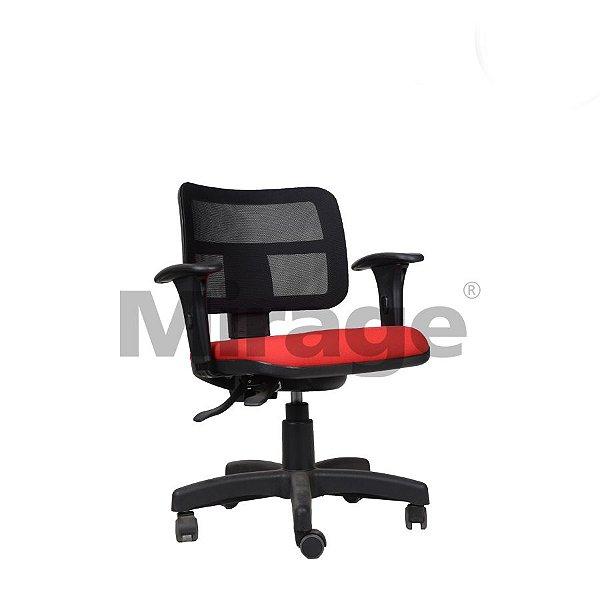 Cadeira Escritório Giratória Zip Secretária Preta