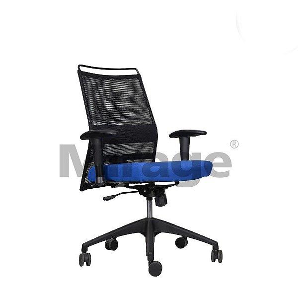 Cadeira Escritório Giratória Milão Diretor Preta