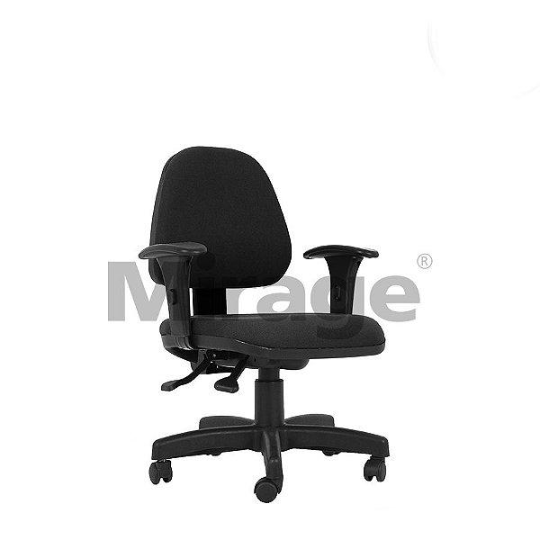 Cadeira Escritório Giratória Polo Secretária Executiva Preta