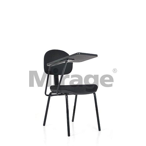 Cadeira Escritório Fixa Eco Secretária Escolar Preta