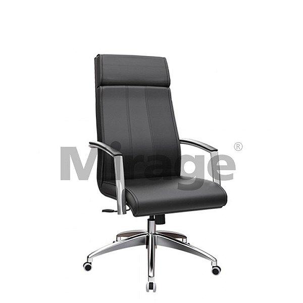 Cadeira Executiva Giratória Berlim Presidente Alumínio