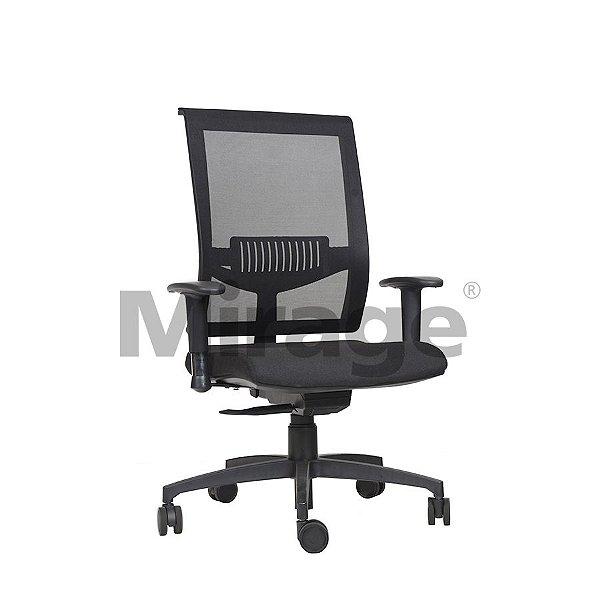 Cadeira Escritório Giratória Versalhes Eco Diretor Preta