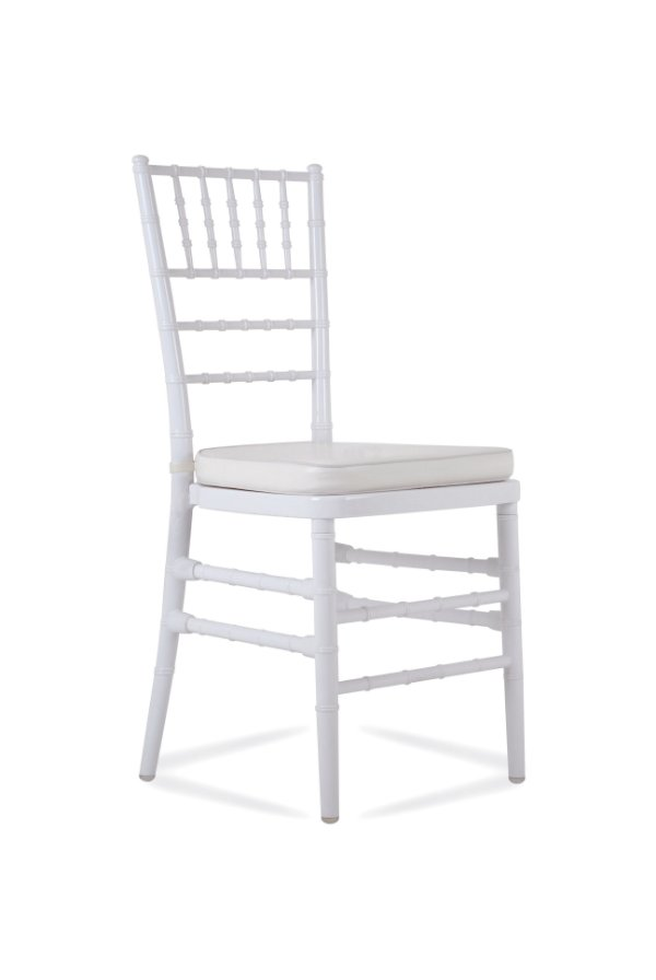 Cadeira Fixa Tiffany Branca Empilhável