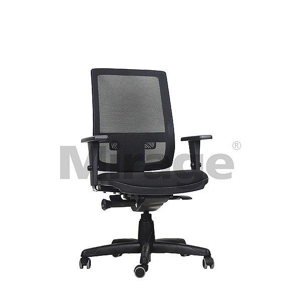 Cadeira Escritório Giratória Icon Diretor Preta