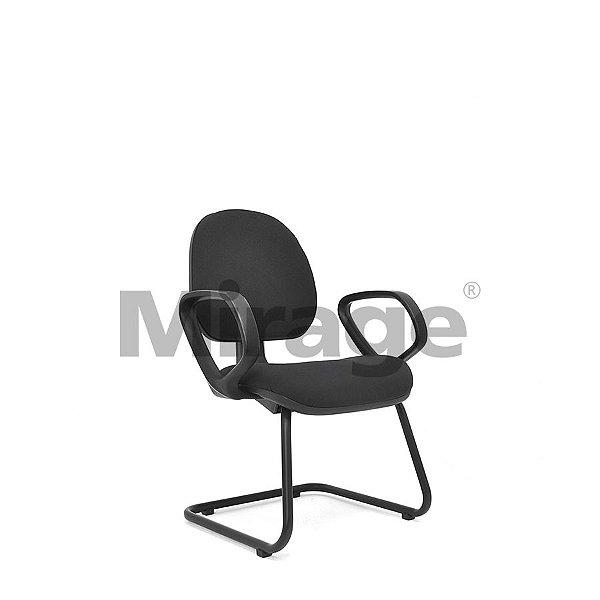 Cadeira Escritório Fixa Diretor Preta Certificada