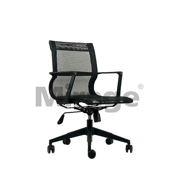 Cadeira Escritório Giratória Safira Diretor Preta