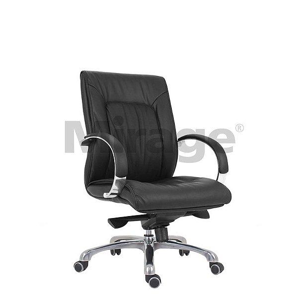 Cadeira Escritório Giratória Mônaco Diretor Alumínio