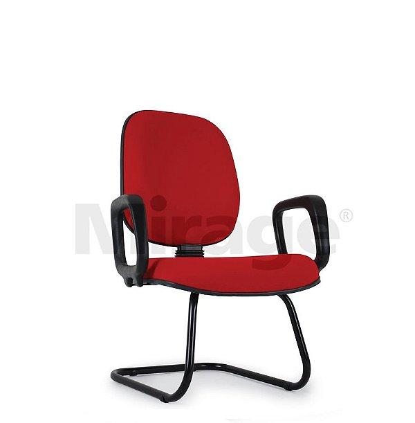 Cadeira Escritório Fixa Pop Diretor com Braço Preta
