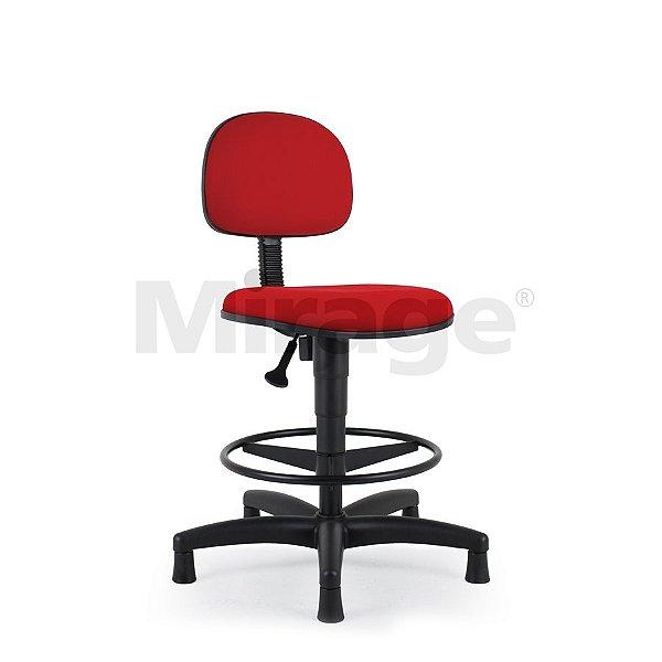 Cadeira Escritório Fixa Pop Secretária Alta Preta