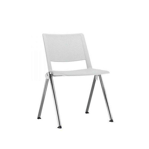 Cadeira Escritório Fit Secretária Fixa Cromada