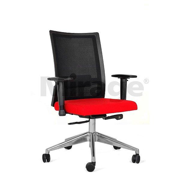 Cadeira Escritório Giratória Sigma Diretor Alumínio