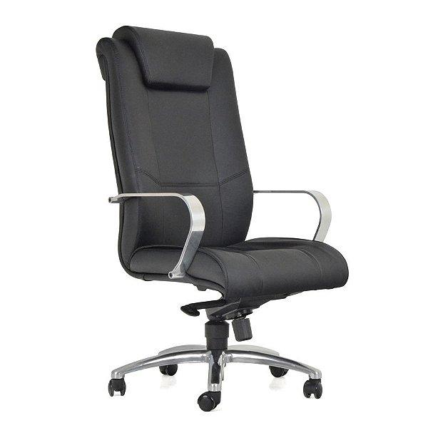 Cadeira Escritório Giratória Boss Presidente Alumínio