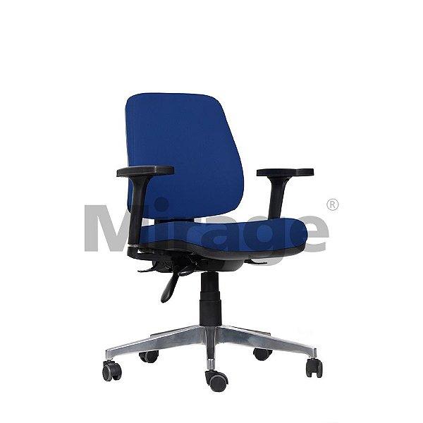 Cadeira Escritório Giratória Tech Plus Diretor Alumínio
