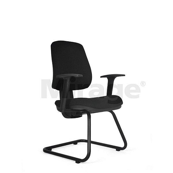 Cadeira Escritório Fixa Tech Plus Diretor Preta